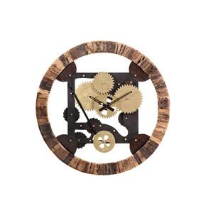 INTERhome Uhr CHEESY gebeizt und lackiert Ø 86 cm