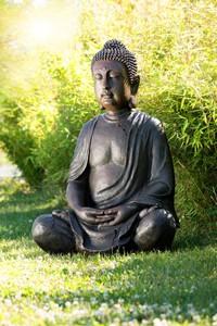 Powertec Garden Buddha Figur aus Polyresin Antik-Look