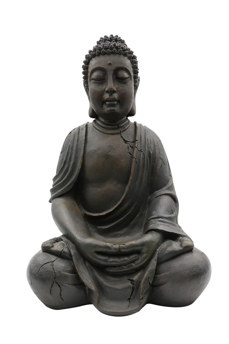 Bild 2 von Powertec Garden Buddha Figur aus Polyresin Antik-Look