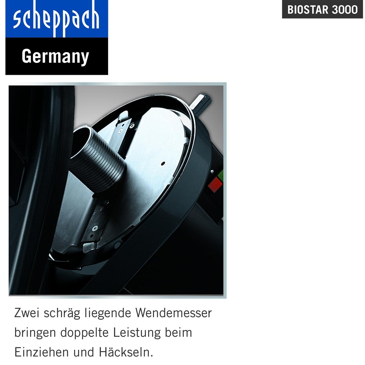 Bild 3 von Scheppach Elektro-Gartenhäcksler Biostar 3000, 3,0 kW