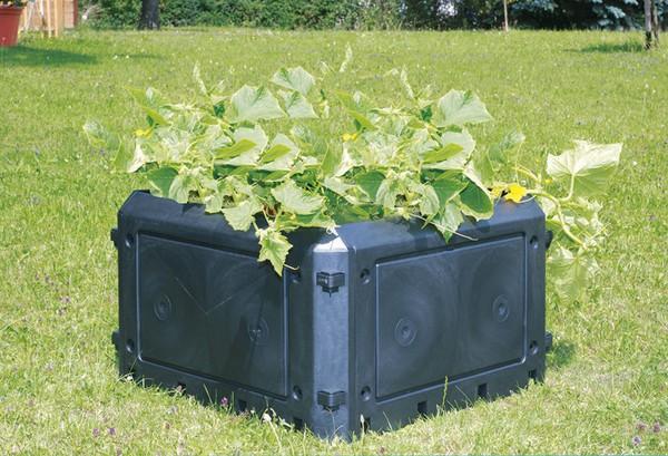KHW Aufbauset 230 Liter zu Bio-Qiuick, ohne Deckel