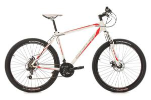 "KS Cycling Mountainbike MTB Hardtail 27,5"" Sharp weiß-rot RH 51 cm"