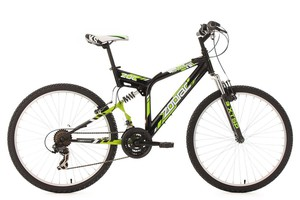 "KS Cycling Mountainbike MTB Fully 26"" Zodiac schwarz RH 48 cm"