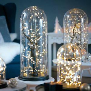 Lichterkette mini Sterne, 20 LED, klar