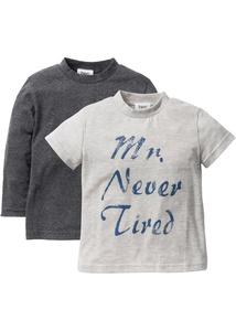 Langarmshirt + T-Shirt (2er-Pack)