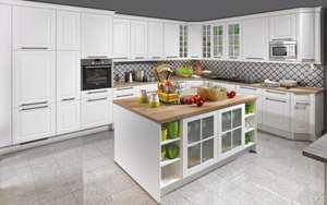 Nobilia - Marken-Einbauküche Sylt in weiß