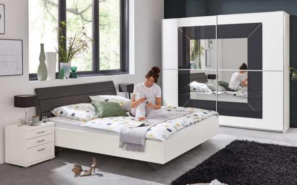 Rauch Dialog - Schlafzimmer Focus/Nicole in weiß/basalt
