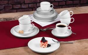 Seltmann Weiden - Kaffeeservice Lido Black Line
