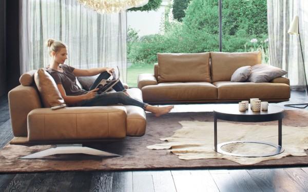 ewald schillig ledergarnitur amelia in nougat von hardeck ansehen. Black Bedroom Furniture Sets. Home Design Ideas