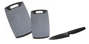 STONELINE® Küchenset Schneidebrett-Set und Keramikmesser