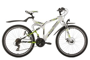 "KS Cycling Mountainbike ATB 26"" Zodiac weiß-grün RH 48 cm"