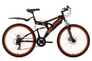 "KS Cycling Mountainbike Fully 26"" Bliss schwarz-orange RH 47 cm"