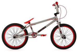 "KS Cycling BMX Freestyle 20"" Twentyinch silber-rot"