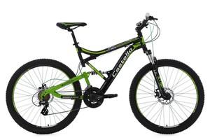 """KS Cycling Mountainbike Fully 26"""" Castello HTX schwarz-grün RH 51 cm"""