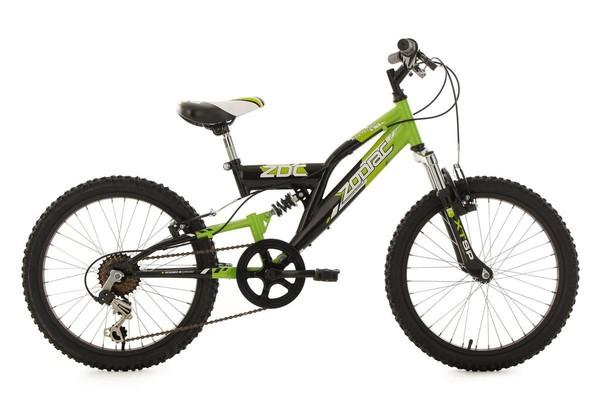 KS Cycling Kinderfahrrad Mountainbike Fully 20'' Zodiac grün-schwarz RH 31 cm