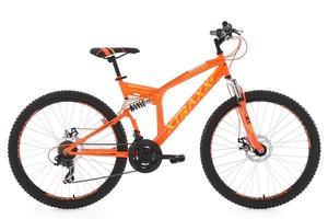 """KS Cycling Mountainbike MTB Fully 26"""" Xtraxx gelb-orange RH 46 cm"""
