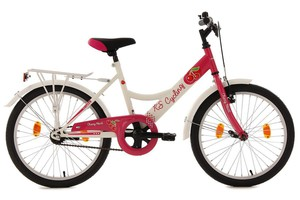 "KS Cycling Kinderfahrrad 20"" Cherry Heart weiß-pink RH 36 cm"