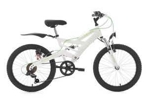 KS Cycling Kinder-Mountainbike 20'' 4Masters weiß-grün RH 36 cm