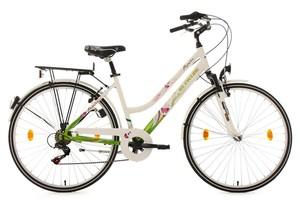 KS Cycling Damenfahrrad 28'' Papilio Alu-Rahmen weiß RH 48 cm