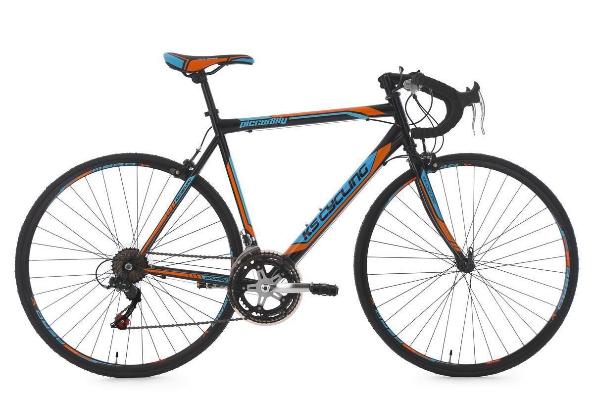 "Bild 1 von KS Cycling Rennrad 28"" Piccadilly schwarz-orange-blau RH 59 cm"