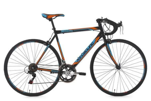 """KS Cycling Rennrad 28"""" Piccadilly schwarz-orange-blau RH 59 cm"""
