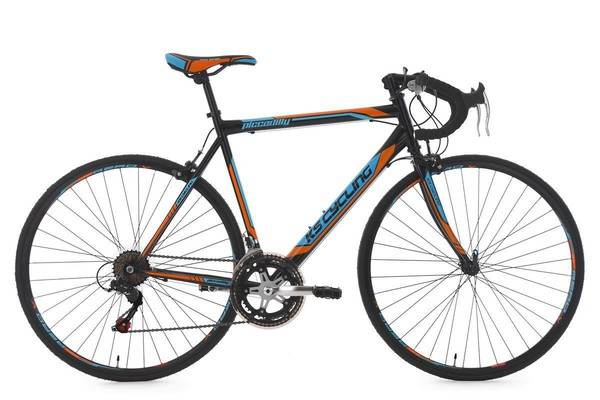"KS Cycling Rennrad 28"" Piccadilly schwarz-orange-blau RH 56 cm"