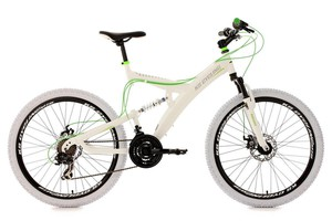 "KS Cycling Mountainbike MTB Fully 26"" Topspin weiß-grün RH 51 cm"