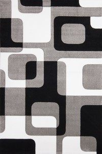 Kayoom France - Versailles Silber / Schwarz 80cm x 300cm