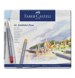 Faber-Castell             Aquarellstift Goldfaber Aqua 48-Metalletui