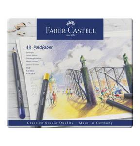 Faber-Castell             Farbstift permanent Goldfaber 48-Metalletui