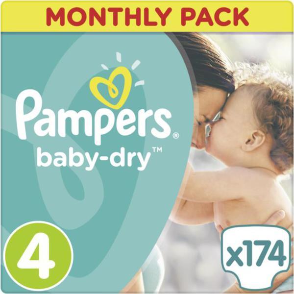 Pampers Baby Dry Windeln Baby Dry Monatsbox, Größe 4 Maxi