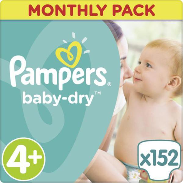Pampers Baby Dry Windeln Baby Dry Monatsbox, Größe 4+ Maxi Plus