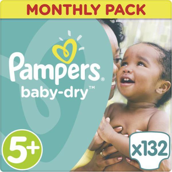 Pampers Baby Dry Windeln Baby Dry Monatsbox, Größe 5+ Junior Plus