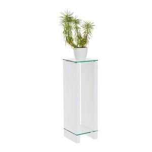 CARRYHOME BLUMENTISCH Glas, Weiß
