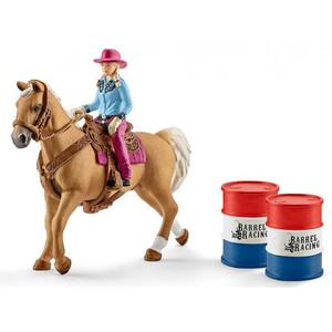 Schleich - Farm World - Barrel racing mit Cowgirl