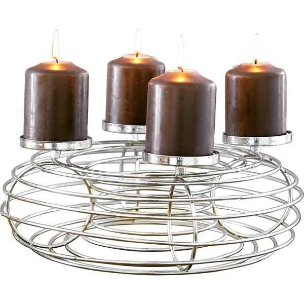 Kerzenhalter Weihnachten.Weihnachten Adventskranz Kerzenhalter Dekokranz Lara ø34 Für 4 Kerzen