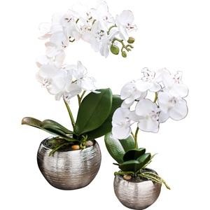 Kunstblume Im Topf ORCHIDEE Phalaenopsis 22 Cm Weiß