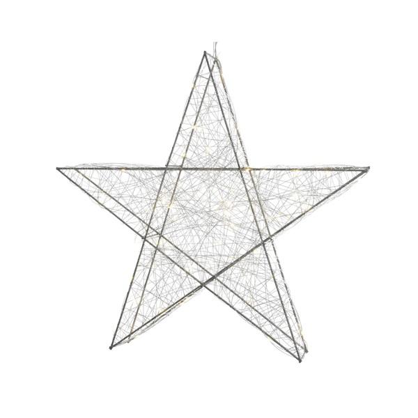 Stern Weihnachten.Kaemingk Weihnachten Draht Stern Mit 30 Micro Leds Und Batterie