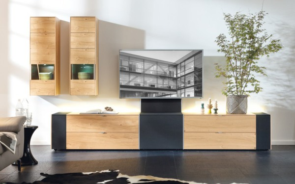 musterring wohnwand musterring q media von hardeck. Black Bedroom Furniture Sets. Home Design Ideas