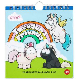 Heye Postkartenkalender Einhorn Theodor 2018