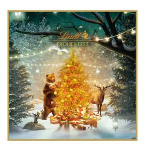LINDT             Adventskalender Schokolade, 153g mit GALERIA Kaufhof Geschenkkarte