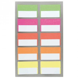 Office Sticker Register Etiketten neon 40x25mm 4 Bogen