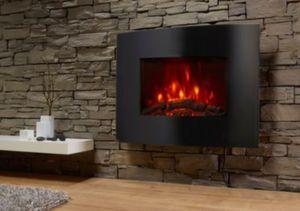 El Fuego Aarau Elektrokamin mit Heizfunktion und Kaminfeuer-Effekt