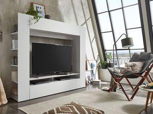 FMD TV-Wand HOUSTEN, Brilliantweiß