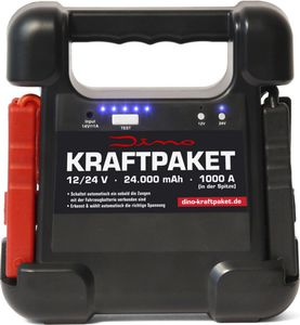 Dino 136104 Kraftpaket 12/24 V Starthilfegerät 24.000 mAh 1.000 A