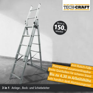 Tech Craft Mehrzweckleiter 345 cm