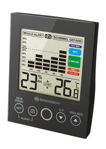 Bresser® Hygrometer MA mit Schimmelalarm schwarz