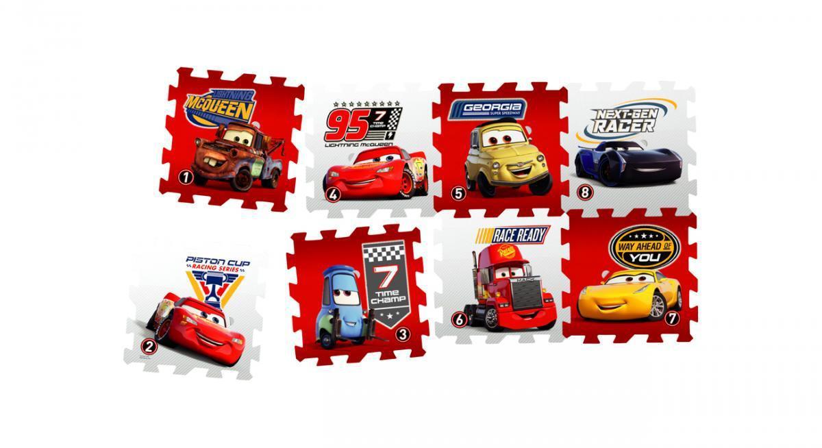 """Bild 1 von Knorrtoys Puzzlematte - """"Cars - Race of a Lifetime""""/ Matten 8/ 16-tlg."""
