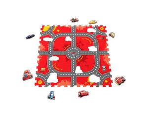 "Knorrtoys Puzzlematte - ""Cars - ""Modular Race""/ Matten 9/ 17-tlg."