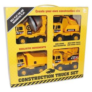 Baufahrzeuge 4-teiliges Set